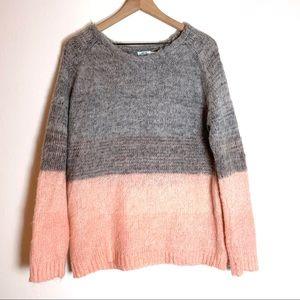 Kimchi Blue Color Block Mohair Blend Sweater Med